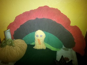 skirt transformed to a turkey
